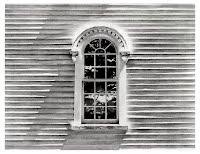 Church Window by Carroll Jones III print of original graphite drawing