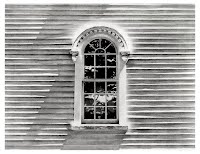 Church Window by Carroll Jones III print of original graphite drawing